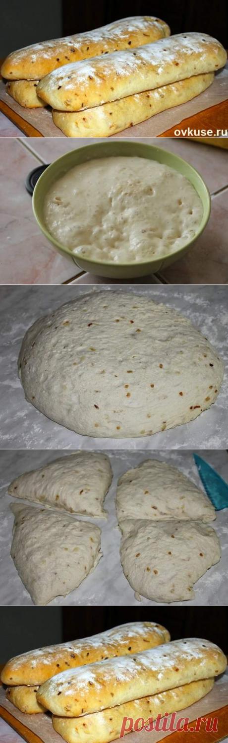 La cocción de Chiabatta con la cebolla - las recetas Simples Овкусе.ру