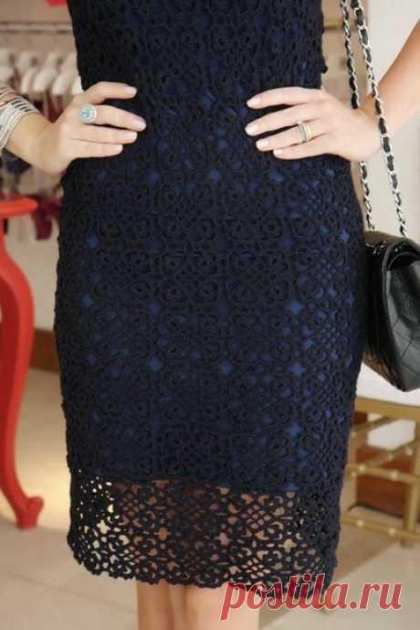 Красивый квадратный мотив для платья или юбки. | Домоводство для всей семьи.