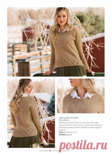 Пуловер от Emily Wood спицами