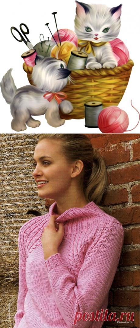 Вяжем красивый пуловер спицами для женщин. - Вязание для всех