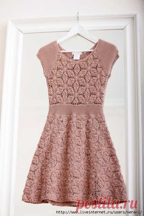 Платье крючком (схема мотива)