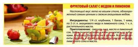 Фруктовый салат с медом и лимоном