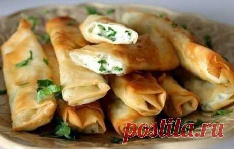 шеф-повар Одноклассники: Вкусные, поджаристые трубочки с сыром и зеленью