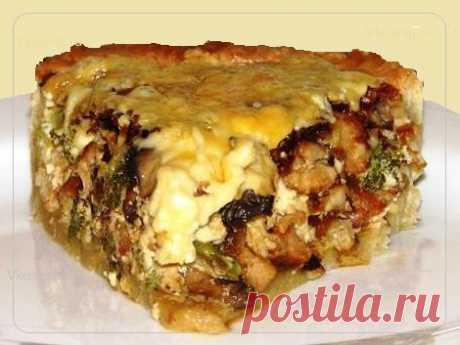Киш с курицей и грибами – это блюдо, праздничный деликатес, готовиться очень быстро и просто, на скорую руку, из доступных и недорогих продуктов. Рецепт »> https://vkusnej.ru/kish-s-kuricej-i-gribami/