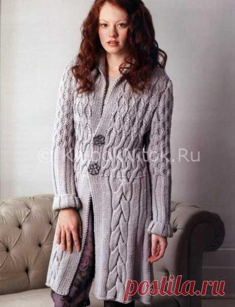 Стильный кардиган с косами | Вязание для женщин | Вязание спицами и крючком. Схемы вязания.