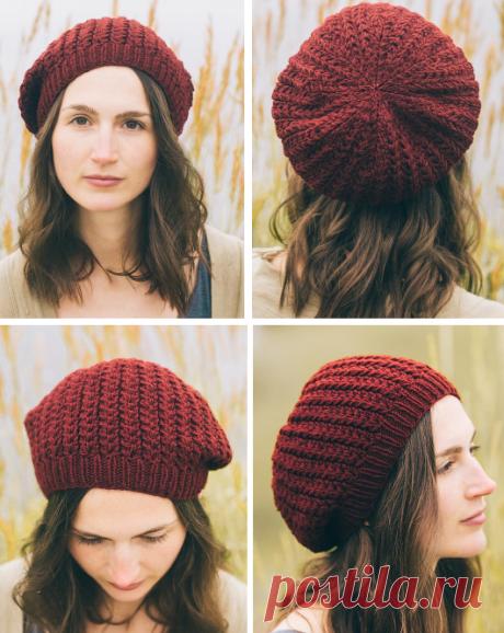 Вязаная шапка классической формы | ДОМОСЕДКА