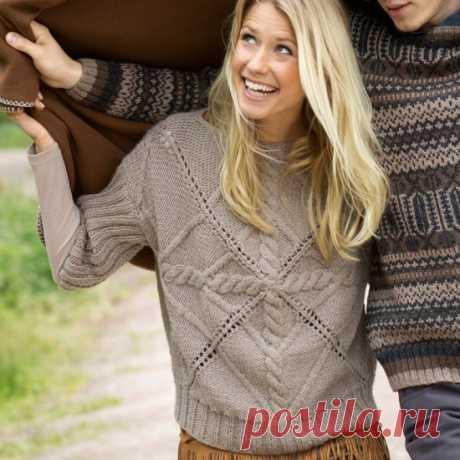 Пуловер с необычным узором — Отлично!