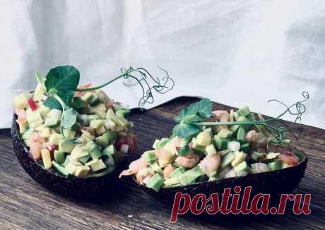 Лёгкий салат из авокадо с креветками - пошаговый рецепт с фото. Автор рецепта Анна . - Cookpad