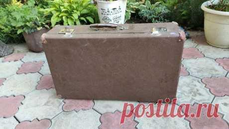 Кто-то выкинул старый чемодан, а я не постеснялась подобрать. Покажу, в какую красоту я его превратила - Простые советы - Женский клуб