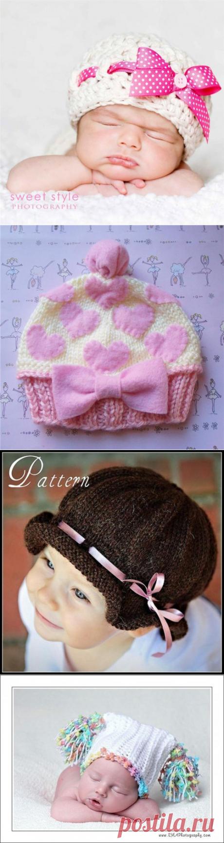 Идеи для рукодельниц - детские вязаные шапочки