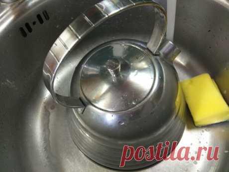 Отмываем нержавейковый чайник: мой быстрый и легкий способ очистки | Наша Дача | Яндекс Дзен