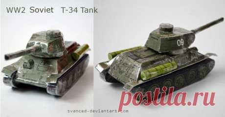 [REQ] WW2 Soviet T-34 Tank Papercraft 2 A small papercraft I've made for this awesome tank.It's the model found here: prmodels.webnode.cz/products/t… However,that's a 1:100 scale model and has 5cm in length.What I did is that I do...