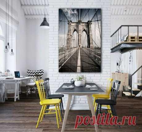 """Картина """"Бруклинский мост"""" по цене от 5900 руб. Размеры: 60x90 см, 80x120 см, 100x150 см, 120x180 см. Срок изготовления: 2-3 дня."""