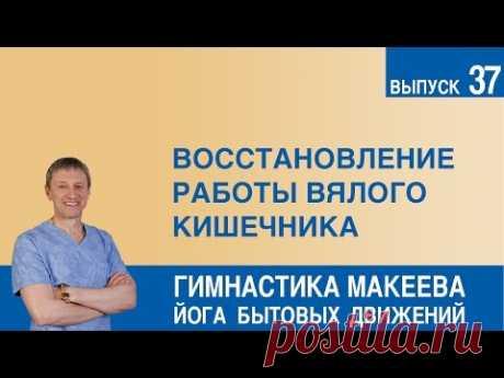 Restoration of work of sluggish intestines