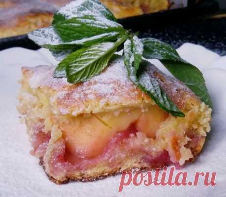 Яблочный пирог с целыми яблоками, вишнями и из творожного теста — Кулинарная книга - рецепты с фото