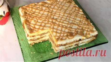 Как приготовить очень вкусный торт без выпечки. Яблочный торт. #https://www.youtube.com/watch?v=w_Pm8d4yP2s