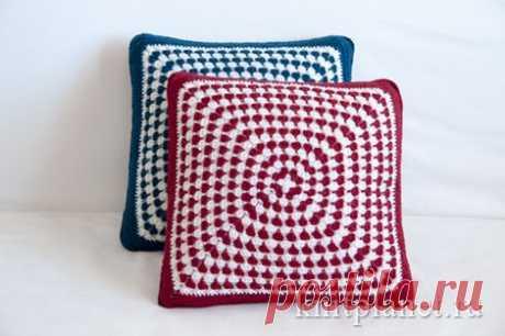 Планета Вязания | Вяжем подушку-думку. Мастер-класс по вязанию чехла для подушки крючком.