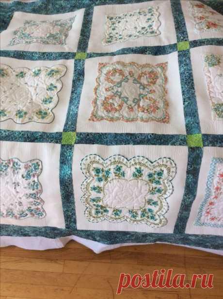 Пэчворк одеяла из платочков Модная одежда и дизайн интерьера своими руками