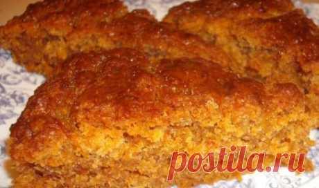 Постный пирог с морковью / Простые рецепты