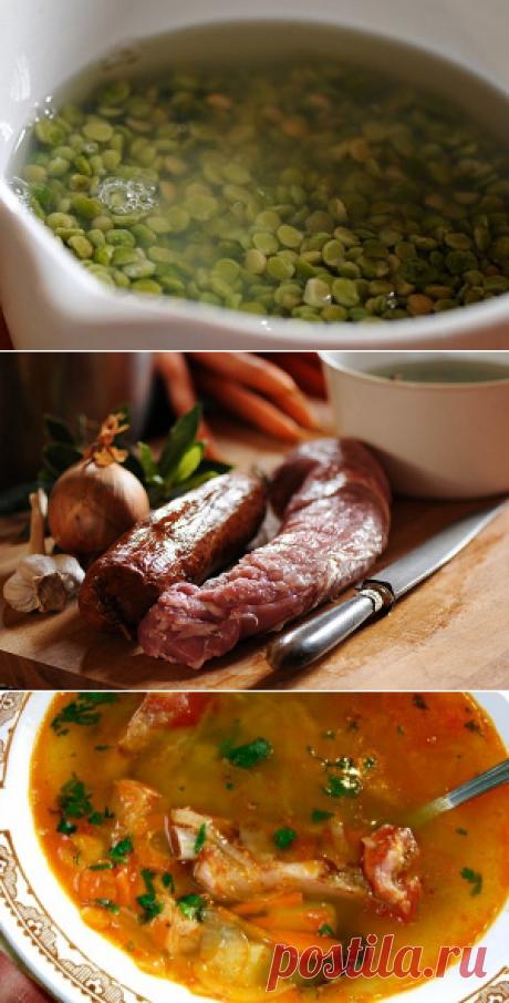 Гороховый суп с копченостями | Вкусный день