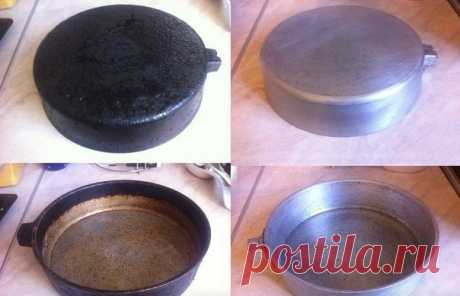 Простой способ очистки старой сковородки от нагара без химии