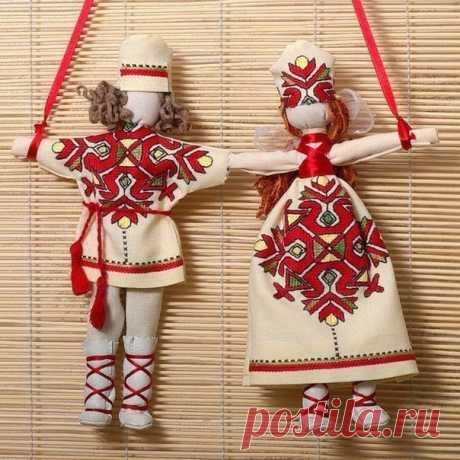 ОБЕРЕГ «Неразлучники» (Шьем игрушки) | Журнал Вдохновение Рукодельницы