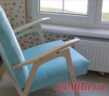 Девушка купила советское кресло на авито за 300 рублей и переделала его. Ход работы. | Волшебство ремонта | Яндекс Дзен