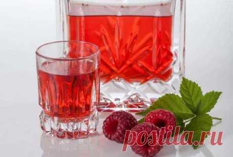 Малиновая настойка на водке, самогоне, спирте