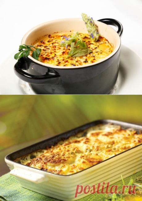 Las patatas cocidas con el queso