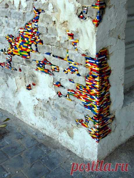 Дизайнерский креатив на улицах города, который радует глаз и вдохновляет