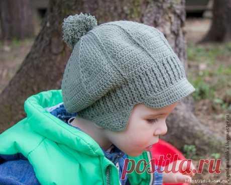 вязаная кепочка для малыша
