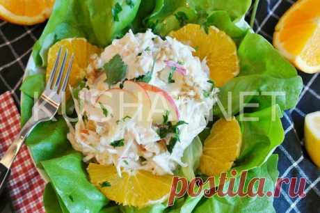 Салат с редькой и яблоком. Рецепт с фото • Кушать нет