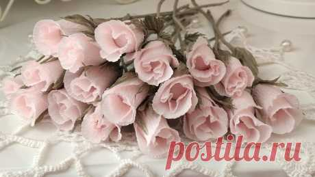 Раскрываю секрет таких роз. Бумажная флористика.| Шебби-Шик |