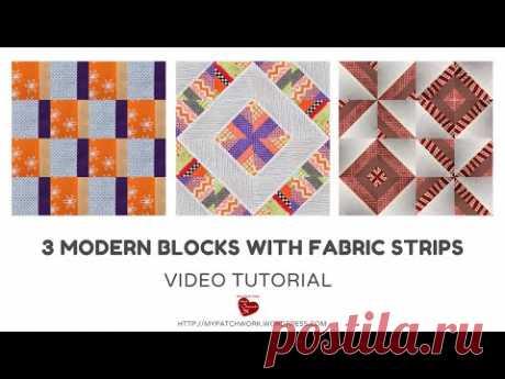 3 современных блока с полосами