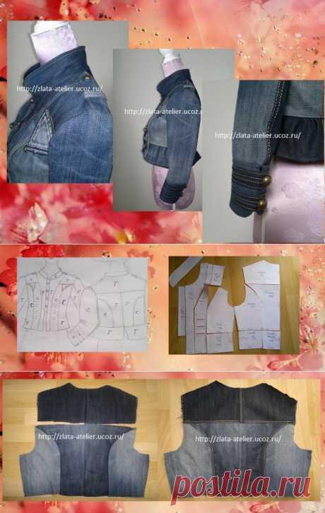 (+1) тема - Куртка из двух пар джинсов. МК от Ателье Авери | РУКОДЕЛИЕ