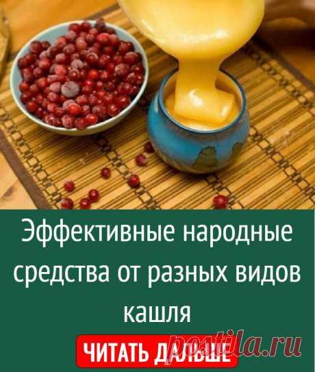 Эффективные народные средства от разных видов кашля