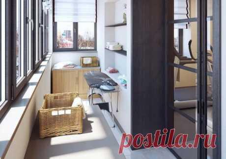 От кабинета до постирочной: 19 классных дизайн-идей для вашего балкона