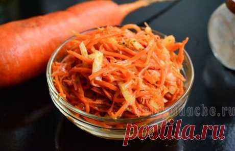 Простой рецепт приготовления моркови по-корейски с приправой для корейской моркови с подробным описанием всех этапов с фото, а также полезные советы по готовке консервации на зиму.