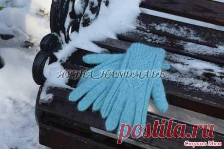 Перчатки с узором «Елочка» - Вязание - Страна Мам