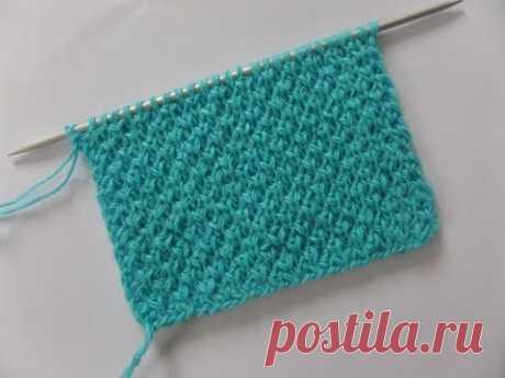 Патентный узор. Вязание спицами Knitting(Hobby). - YouTube