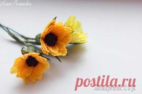 Создаем простые маленькие цветочки для букета - запись пользователя AlinaRomanovna (Алина) в сообществе Прочие виды рукоделия в категории Флористика, топиарии