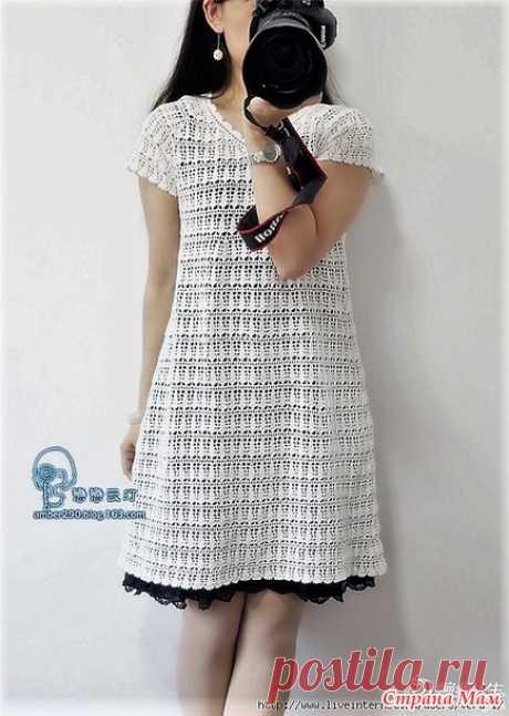 . Простота и совершенство. Белое ажурное платье. - Все в ажуре... (вязание крючком) - Страна Мам