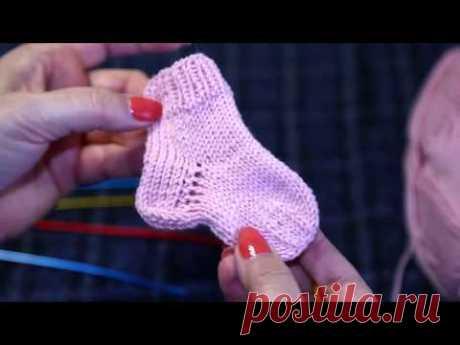 Уроки вязания. Носочек | Knitting lessons #клуб28петель