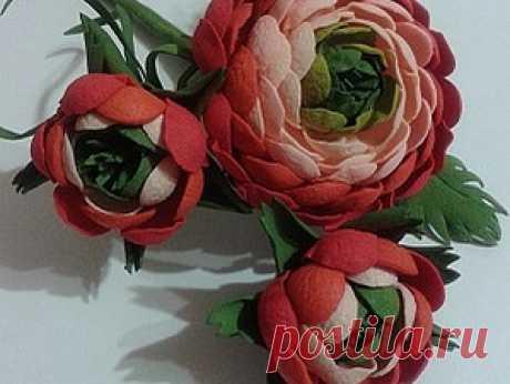 Ранункулюс из фоамирана - Ярмарка Мастеров - ручная работа, handmade