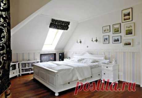 Оформление жилой комнаты на чердаке | Роскошь и уют