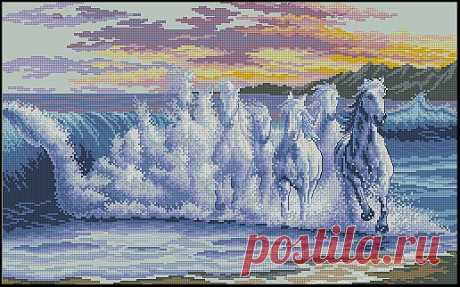 "Схема вышивки ""The Wave"" (Волна)"