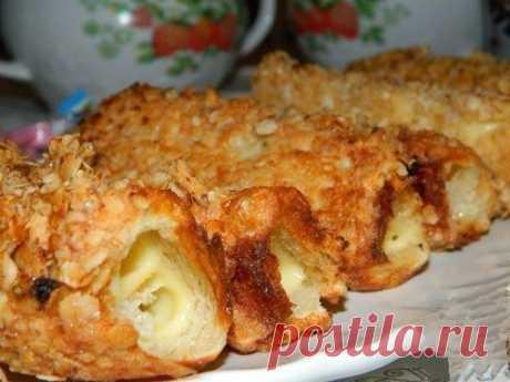 Горячие бутерброды-трубочки   Вкусные рецепты