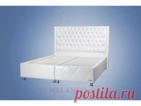Двуспальная кровать с подъемным механизмом и мягким изголовьем Флора FLORA в кожзаме D0195 в Москве