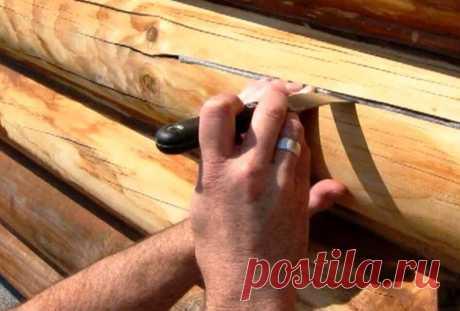 Старинный проверенный способ заделывания трещин в брёвнах и в брусе (+ 2 современных) | Дачный СтройРемонт | Яндекс Дзен