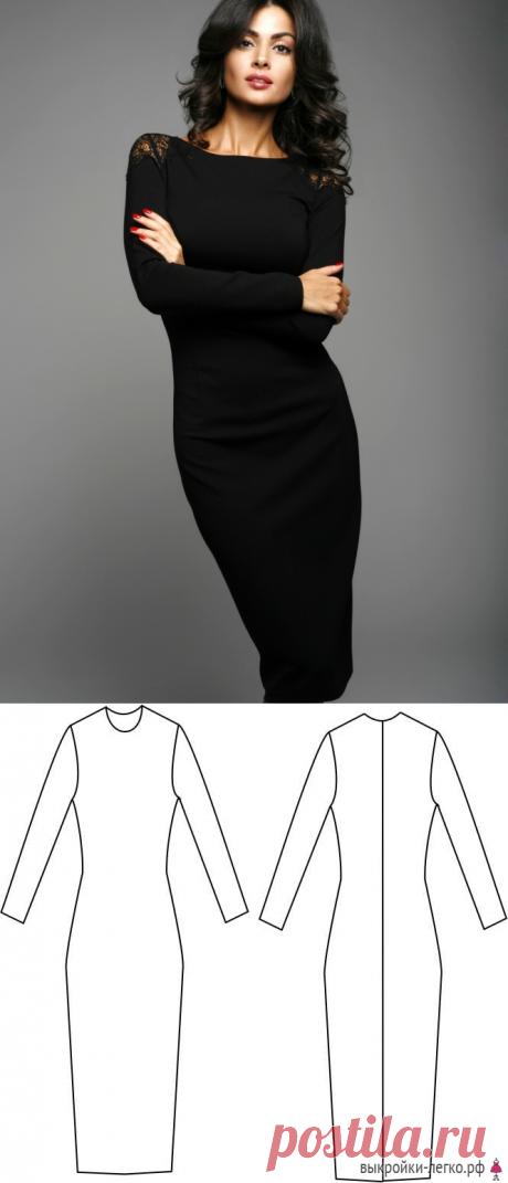 El patrón del vestido del género de punto   los patrones Preparados y las lecciones por la construcción en Выкройки-Легко.рф